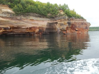 Sandstone cliffs.