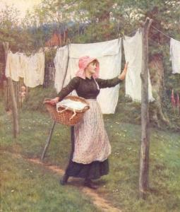 helen_allingham_-_drying_clothes